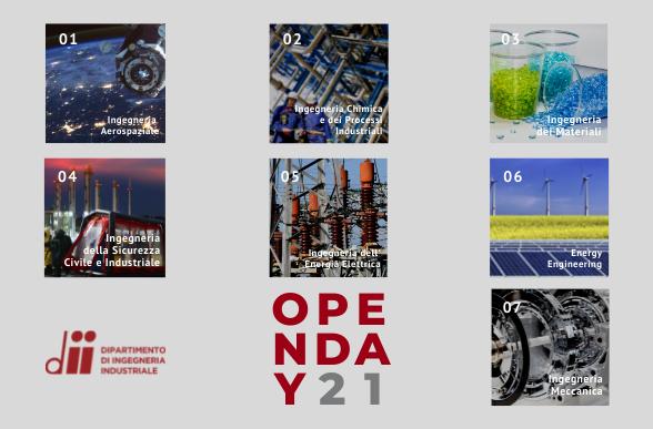 Collegamento a Open Day DII - Corsi di Laurea Magistrale dal 24 al 28 maggio 2021